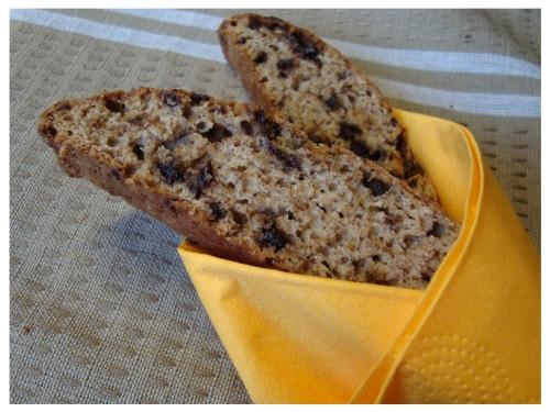 Bananiniai biscotti su šokolado gabalėliais (2)