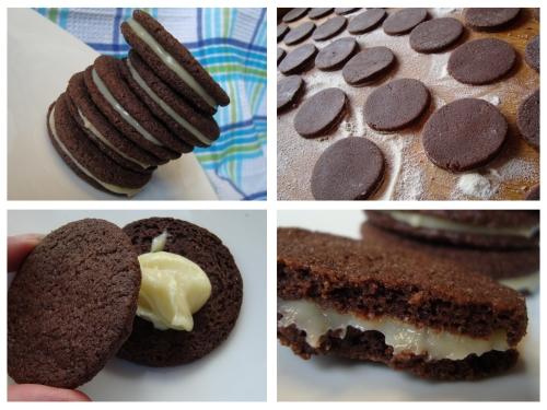 Dvigubi kavos sausainiai su baltojo šokolado pertepimu