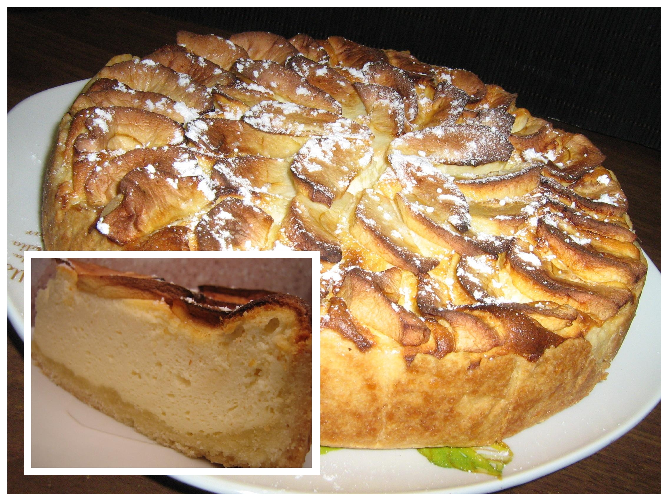 Varškės - obuolių pyragas